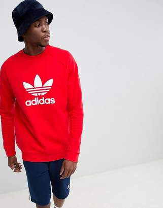 adidas Trefoil Sweat In Red DH5826