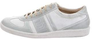 Miu Miu Leather Low-Top Sneakers