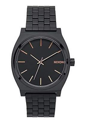 Nixon Time Teller Black/Rose Gold Women's Watch (37mm. Rose Gold/Black Face & Black Metal Band)