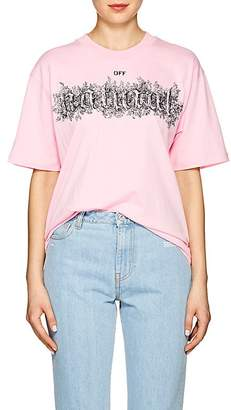 "Off-White Women's ""Off Natural"" Cotton Oversized T-Shirt"
