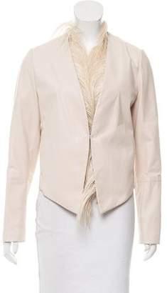 Brunello Cucinelli Layered Leather Jacket