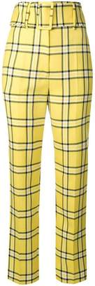 Sara Battaglia super high waisted trousers