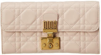 Christian Dior Dioraddict Leather Continental Wallet