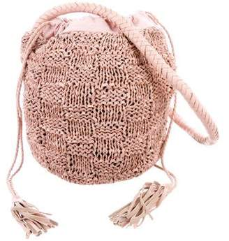 Sophie Anderson Small Leather Knitted Bucket Bag w/ Tags