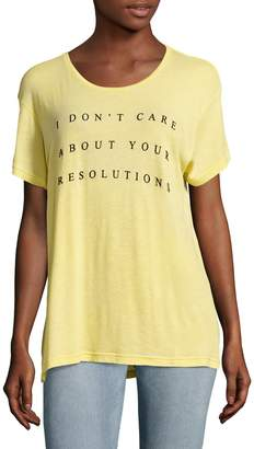 Wildfox Couture Women's Machester No Resolution T-Shirt
