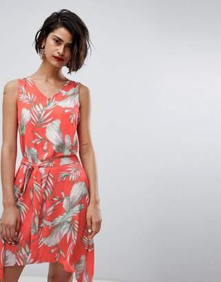 Vero Moda Tropical Print Asymetric Dress