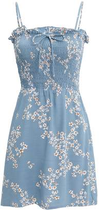 Faithfull The Brand Marni Shirred Mini Dress
