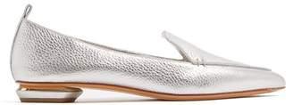 Nicholas Kirkwood Beya Grained Leather Loafers - Womens - Silver