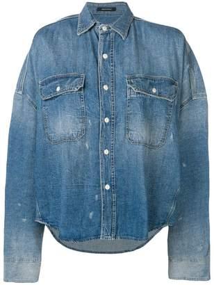 R 13 loose fitting denim shirt