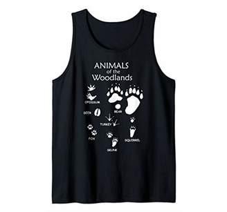 Woodland Cute Animal Paw Print Shirt