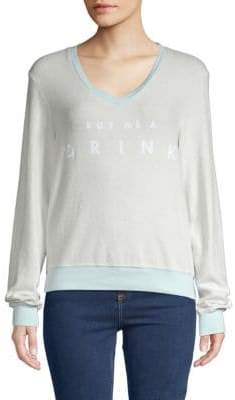 Wildfox Couture Graphic V-Neck Sweatshirt