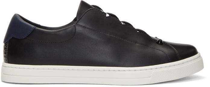 Fendi Black Logo Slip-On Sneakers