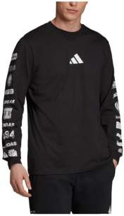 adidas Men's Tp Loose Fit Long Sleeved Graphic T-Shirt
