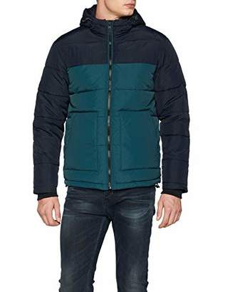 New Look Men's Colour Block Coat,(Size:51)