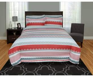 Mainstays Red Stripe Duvet Cover Set