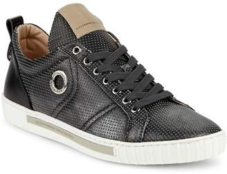 "Alessandro Dell'Acqua Alessandro Dell""Acqua Men's Perforated Leather Lace-Up Sneakers"