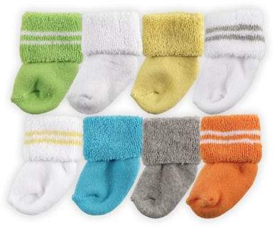 Size 6-12M 8-Pack Assorted Socks in Yellow