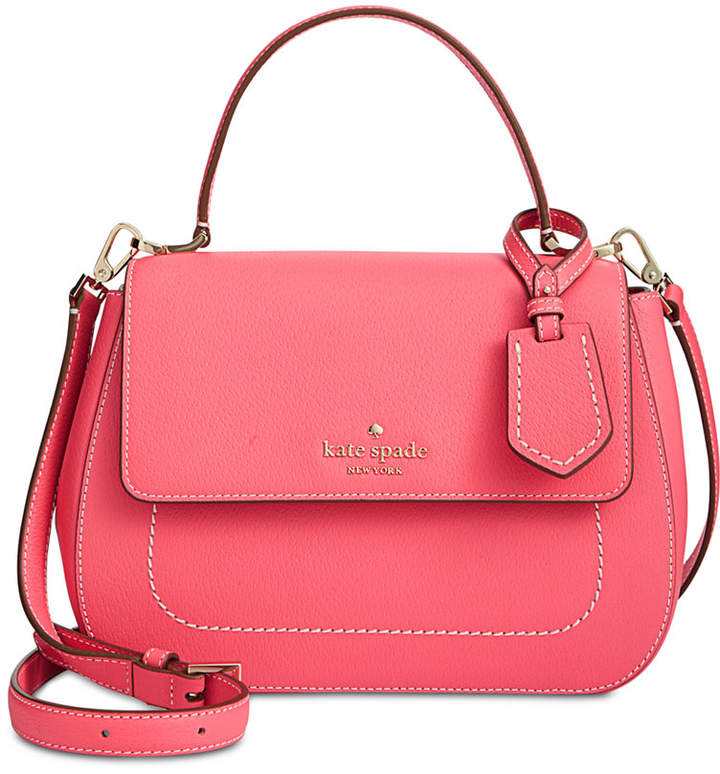 Kate Spade Thompson Street Justina Small Satchel - BRIGHT FLAMINGO - STYLE