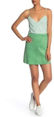 Theory High Waist Lamb Suede Mini Skirt