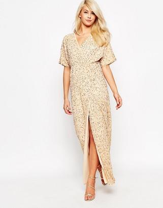 ASOS Sequin Kimono Maxi Dress $145 thestylecure.com