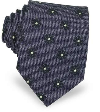 Forzieri Pure Silk Woven Floral Pattern Men's Tie