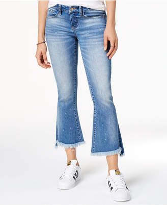 Dollhouse Juniors' Cropped Kick Flare Jeans