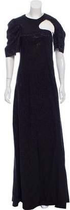 Celine Jacquard Cutout Dress