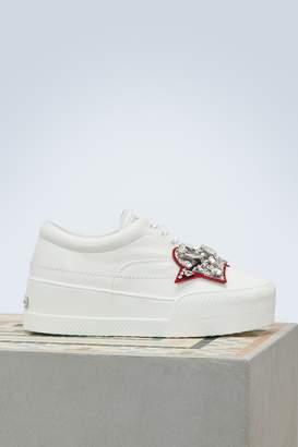 Miu Miu Jewel heart sneakers