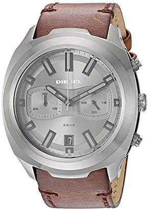 Diesel Men's 'Tumbler' Quartz Stainless Steel and Leather Watch
