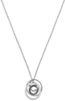Swarovski Greeting Pavé Crystal Rhodium-Plated Pendant Necklace