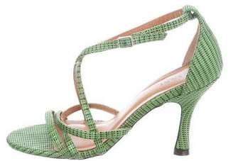 Ganni Pattern Print Sandals