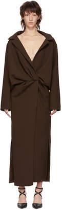 Jacquemus Brown Le Manteau Vaal Dress