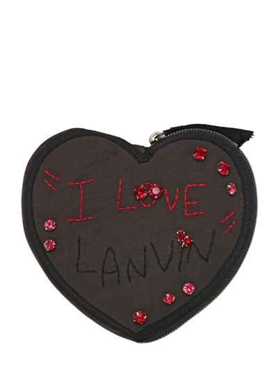 Lanvin Heart Case With Alber Embroidery Wallet