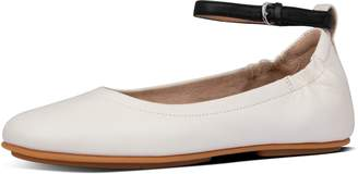 FitFlop Allegro Leather Ankle-Strap Ballet Flats