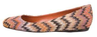 Missoni Round-Toe Chevron Knit Flats