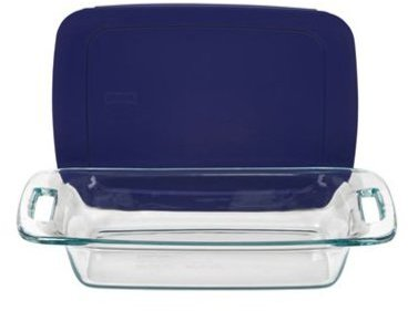 Pyrex 2-qt. Easy Grab Baking Dish with Blue Cover, Blue