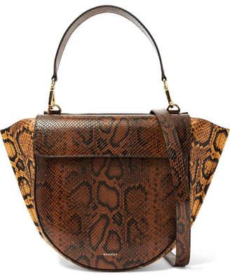 20601d0f98 Wandler Hortensia Medium Snake-effect Leather Shoulder Bag - Snake print