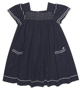 Tartine et Chocolat Embroidered cotton smock dress