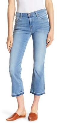 7 For All Mankind Flared Leg Cropped Released Hem Jeans