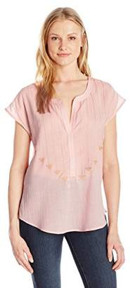 Plenty by Tracy Reese Women's Embroidered Henley
