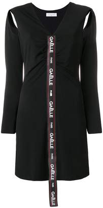 Gaelle Bonheur logo long-sleeve mini dress