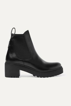 Moncler Vera Leather Chelsea Boots - Black