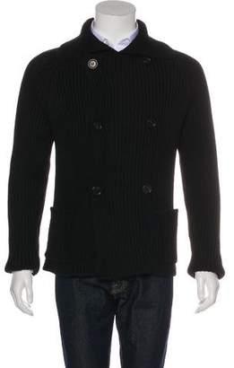 Prada Wool Double-Breasted Cardigan