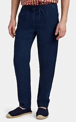 Onia Men's Carter Linen Drawstring Pants - Navy