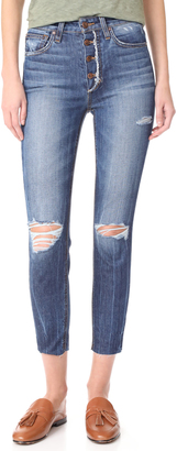 Joe's Jeans Charlie High Rise Skinny Crop Jeans $198 thestylecure.com