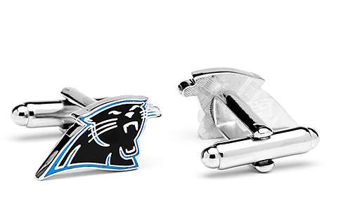 Carolina Panthers Enamel & Silvertone Cuff Links