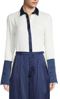 Alexis Julya Silk Colorblock Shirt