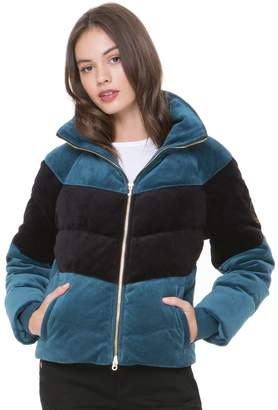 Juicy Couture Colorblock Velour Puffer Jacket