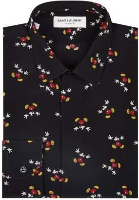 Saint Laurent Silk Mickey Mouse Shirt