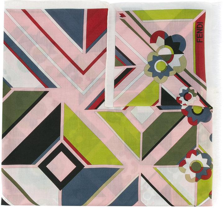 FendiFendi abstract floral print scarf